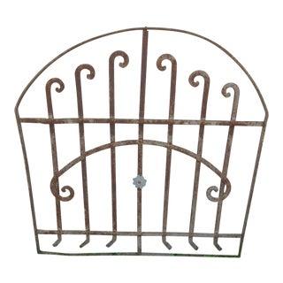 Antique Victorian Iron Garden Fence or Gate Element