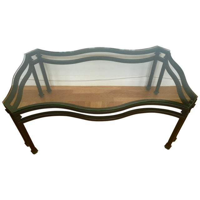 Kolkka Glass Iron Coffee Table Chairish