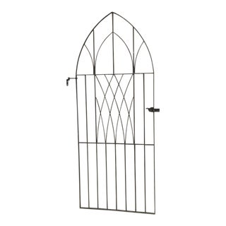 English Antique Gothic Iron Gate