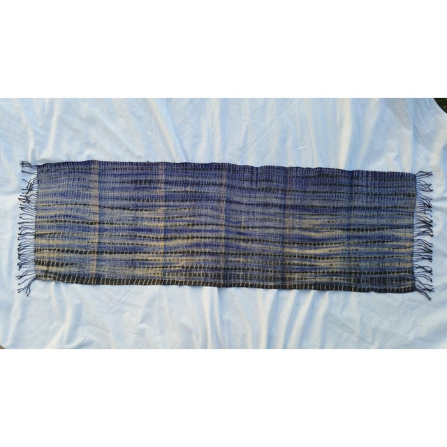 Tribal Tie Dye Hemp Table Runner - Image 2 of 5
