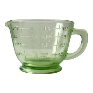 Vintage Green Depression Glass Liquid Measuring Cup
