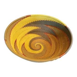 African Zulu Woven Wire Bowl