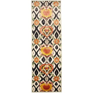 """Suzani Hand Knotted Runner - 4'1"""" X 12'5"""""""
