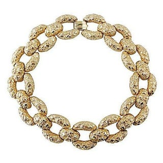 Goldtone Nugget Couture Collar Necklace