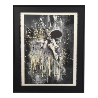 """Jimi Hendrix Lithograph Framed By, """"Mr. Brainwash"""", Signed & Numbered"""