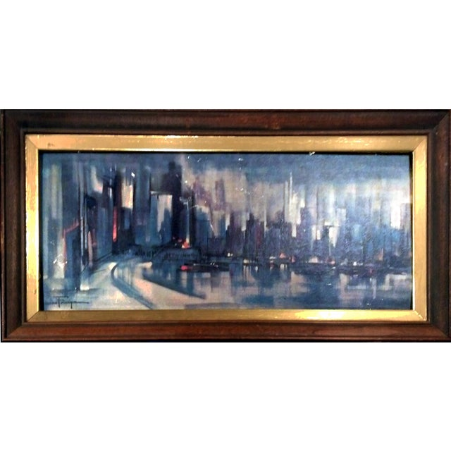 Ozz Franca Mid-Century Cityscape Lithograph - Image 1 of 10