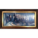 Image of Ozz Franca Mid-Century Cityscape Lithograph