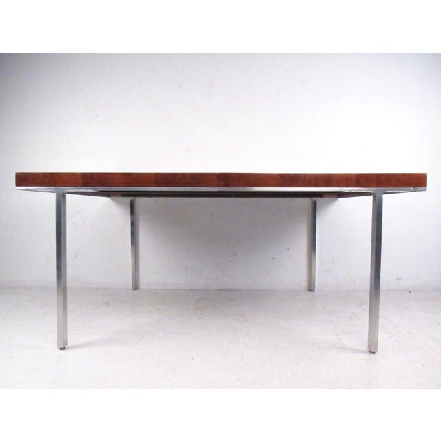 John Stuart Rosewood, Chrome & Leather Dining Set - Image 5 of 11