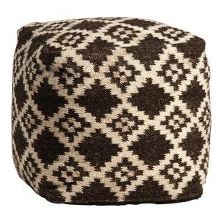 Hand Woven Wool Pouf