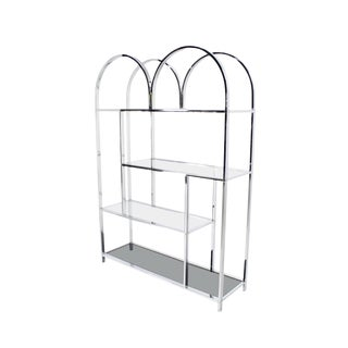 Milo Baughman Chrome Etagere Shelving Unit