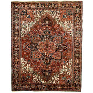 "Traditional Antique Heriz Rug - 9'10"" x 13'"