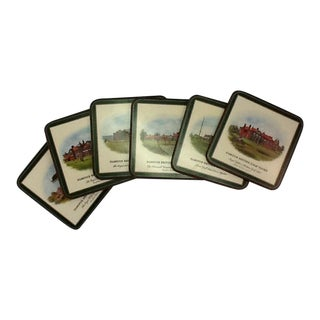 Vintage English Golf Clubs Coasters - S/6