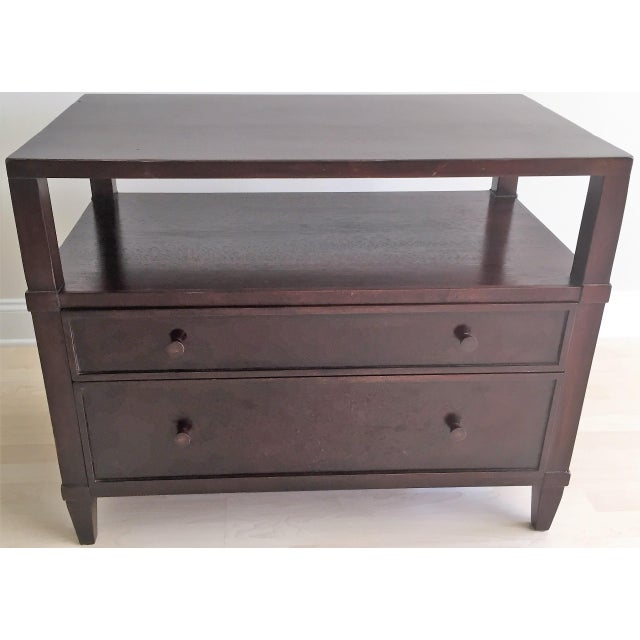 South Cone 2 Drawer Open Shelf Nightstand Chairish