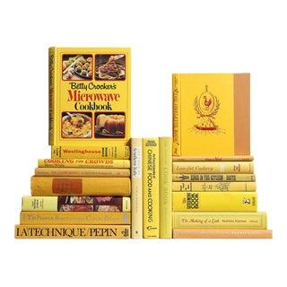 Vintage Cookbooks: Retro Cuisine in Yellow, S/20