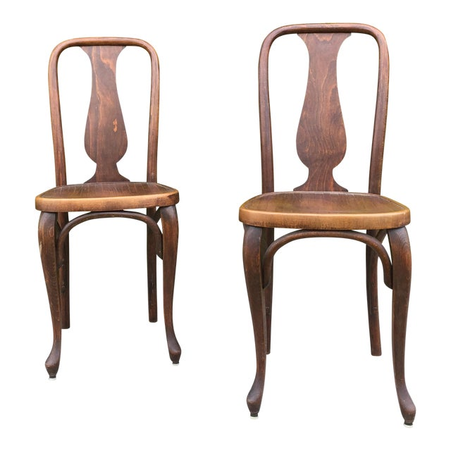 J & J Kohn Austrian Bistro Chairs - A Pair - Image 1 of 7
