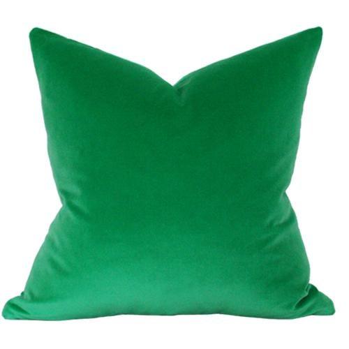 Emerald Green Velvet Pillow Cover - Image 3 of 3