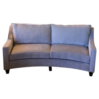 Custom Curved Gray Sofa