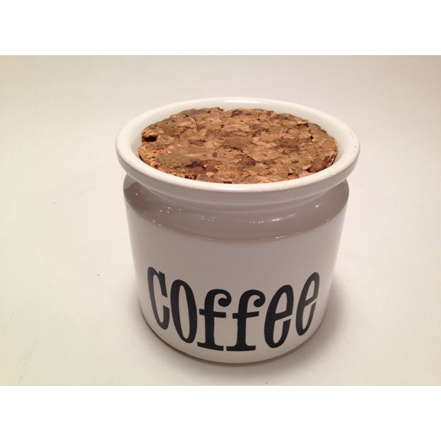 English Stoneware Coffee Canister - Image 3 of 7