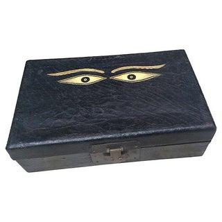 Antique Box W/ Tibetan Buddah Eyes