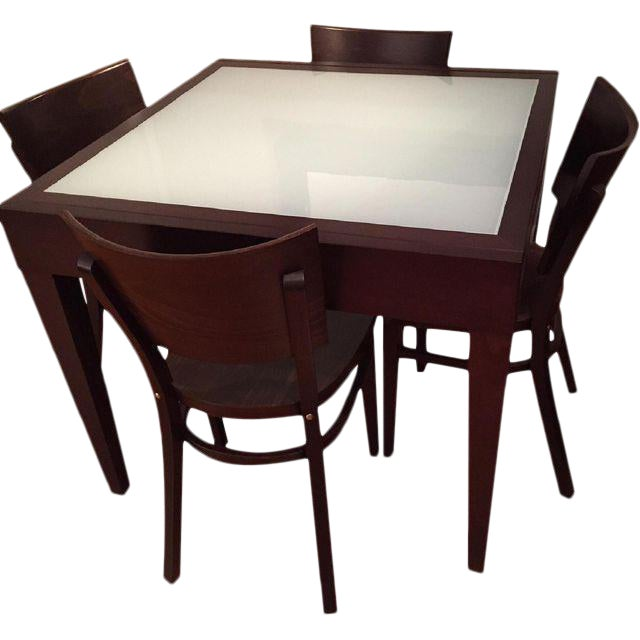 Image of Spanna Extending Dining Table & Kyoto Chairs