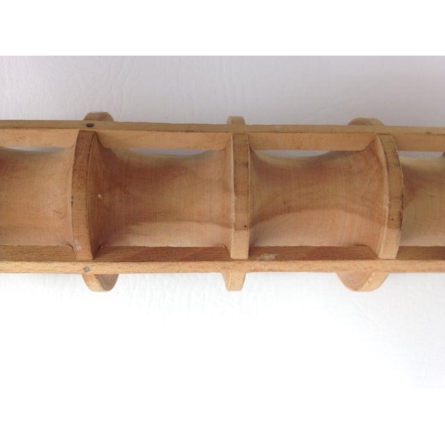 Image of Vintage Wooden Ravioli Rolling Pin