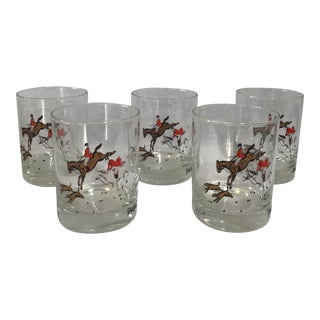 Neiman Marcus Equestrian Glasses - Set of 5