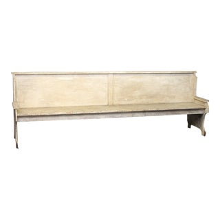 Vintage 9 Ft. Salvaged Wooden Bench