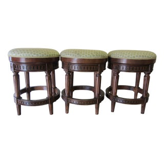 Chapman Swivel Backless Wood Counter Stools