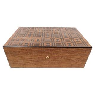Vintage 1985 Wooden Hermes Humidor Cigar Box