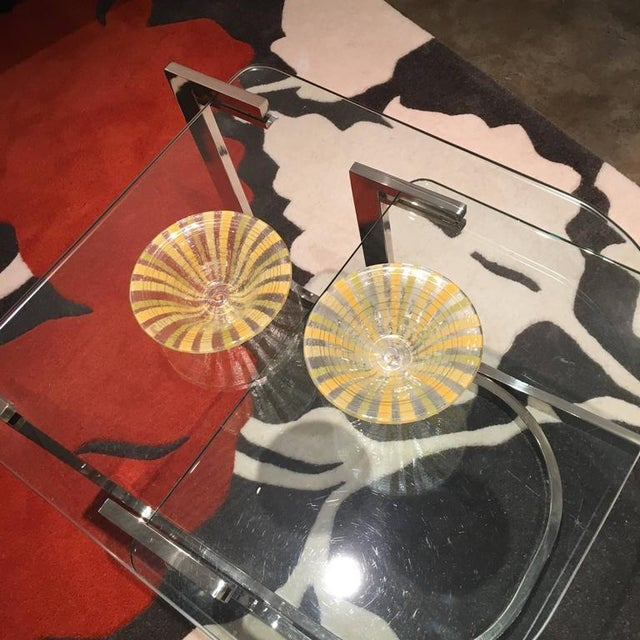 Signed Pair of Higgins Fused Modern Art Glass Bowls - Image 5 of 5