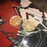 Image of Signed Pair of Higgins Fused Modern Art Glass Bowls