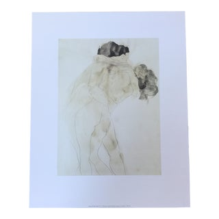 Auguste Rodin The Kiss Watercolor Offset Print