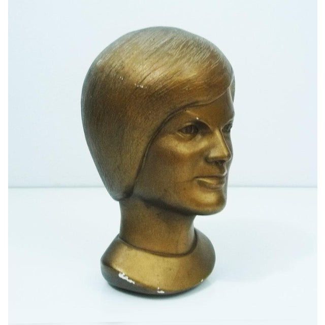 1963 Jacqeline Kennedy Chalkware Bust Bronze - Image 2 of 6