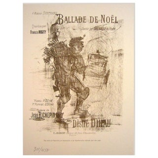 Toulouse Lautrec Number Print, Christmas