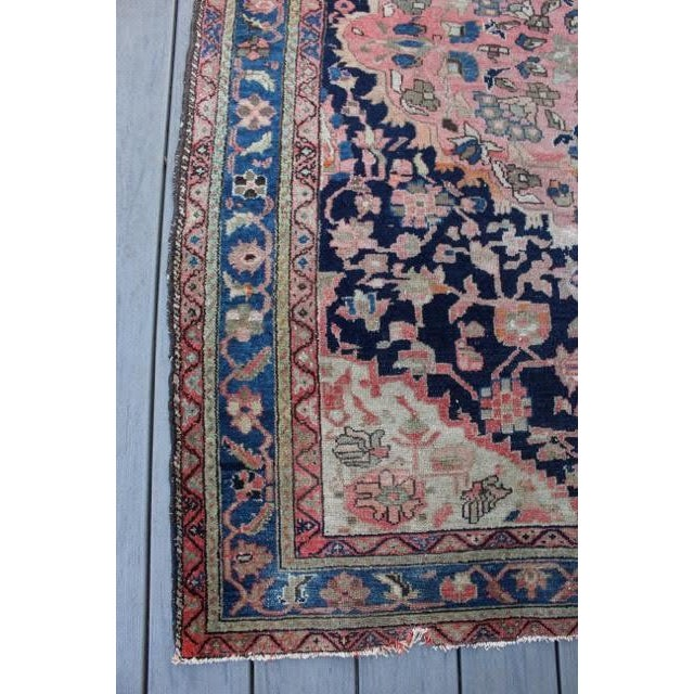 "Antique Persian Sarouk Rug - 4'4"" x 6'4"" - Image 8 of 10"