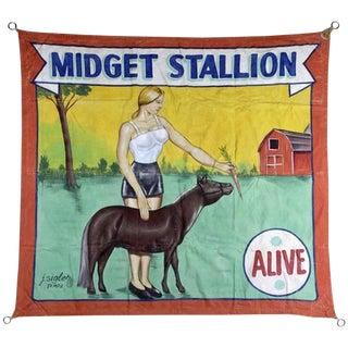 """""""Midget Stallion"""" Carnival Banner"""