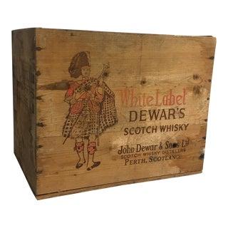 Vintage Dewars Whisky Wooden Crate