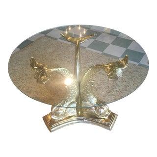 Hollywood Regency Brass Fish Table