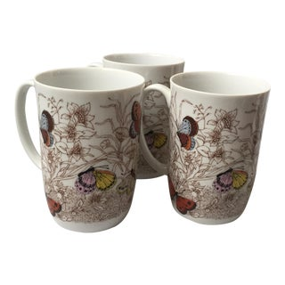 Neiman Marcus Butterfly Mugs - Set of 3