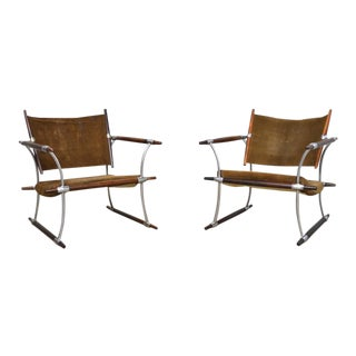 "Jens Quistgaard Pair of ""Stokke"" Rosewood Danish Modern Lounge Chairs"