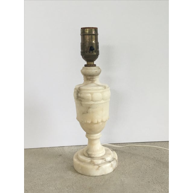 Antique 1920s Alabaster Table Lamp - Image 2 of 6