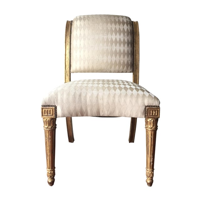 Vintage Neoclassical Style Gilt Side Chair - Image 1 of 10