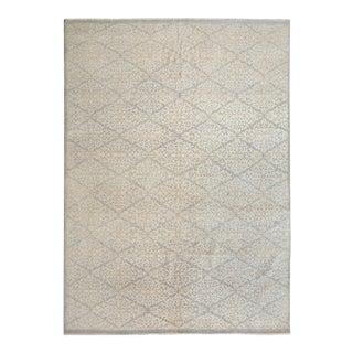 "Kafkaz Peshawar Agueda Gray/Ivory Wool Rug - 7'9"" X 9'9"""