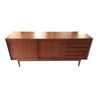 Johannes Aasbjerg Teak Exposed Dovetail Case Credenza