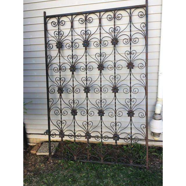 Antique Wrought Iron Decorative Wall Divider - Image 5 of 8