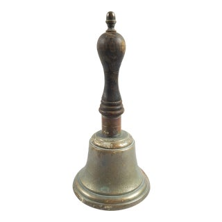 Antique Brass & Wood School Bell