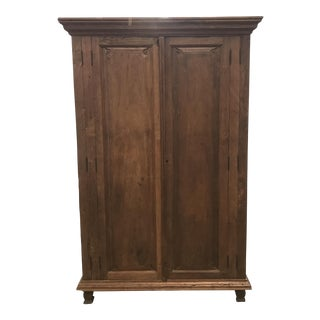 1900s Antique Oak Armoire