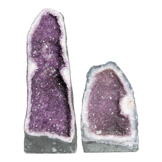 Brazilian Amethyst Cathedrals - A Pair