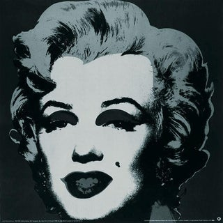 Andy Warhol-Marilyn Black #24-1989 Poster