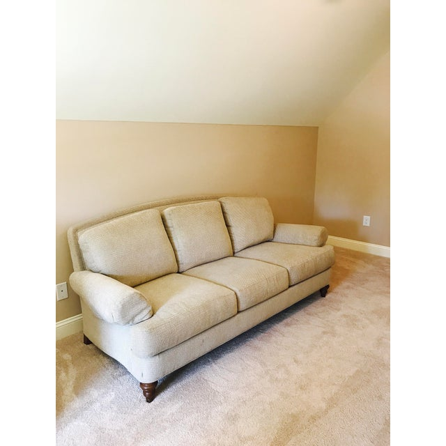 Ethan Allen Cream Sofa - Image 2 of 5